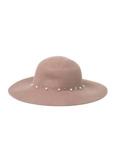 Vince Camuto Embellished Studded Floppy Wool Hat