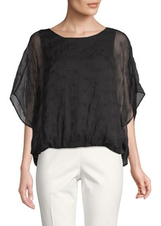 Vince Camuto Embroidered Eyelet Top