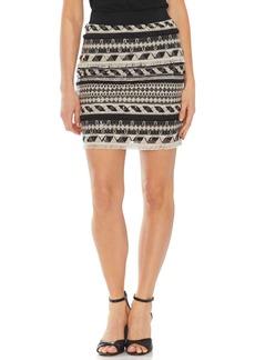 Vince Camuto Embroidered Stripe Miniskirt
