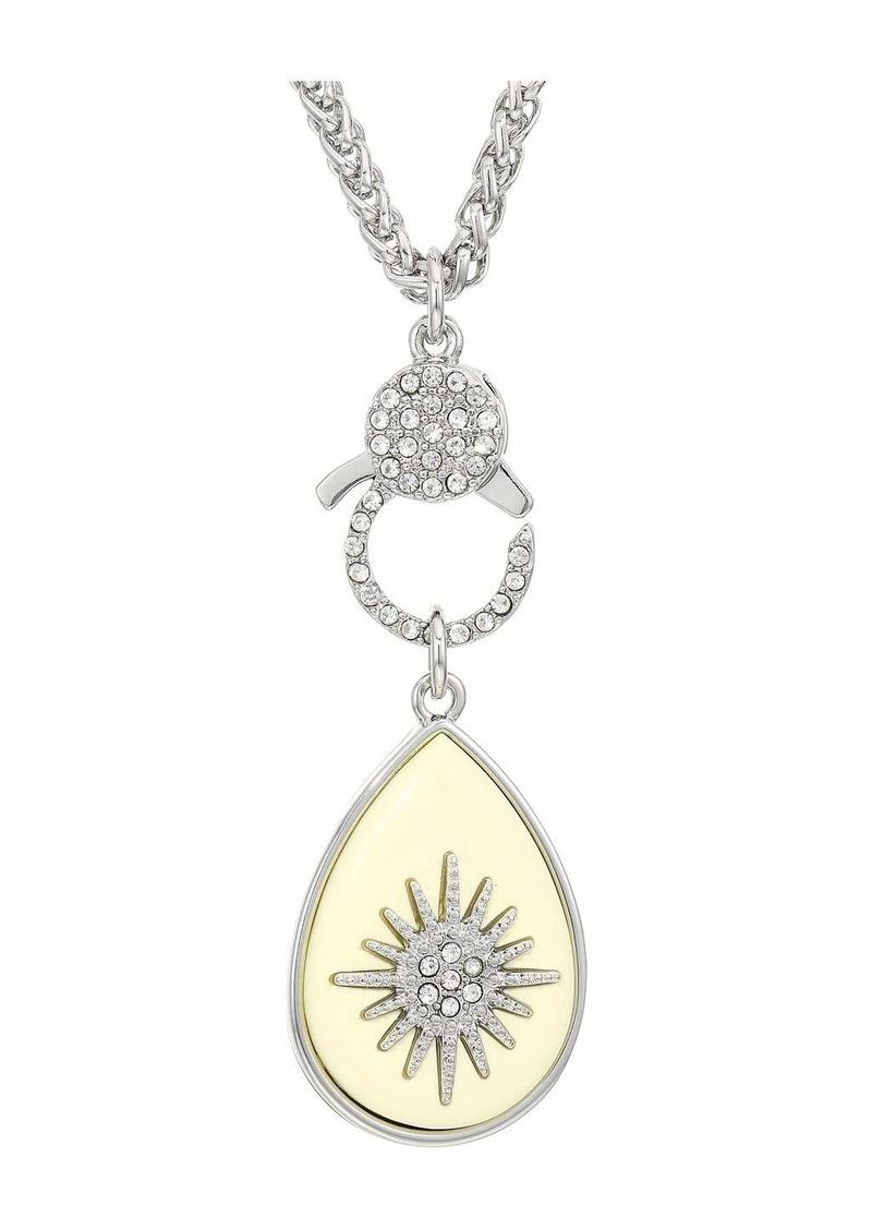 Vince Camuto Enamel Starburst Pendant Necklace