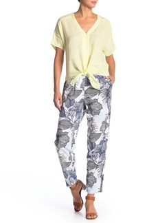 Vince Camuto Etched Hawaiian Floral Pants