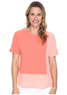 Vince Camuto Extend Shoulder Color Blocked Blouse