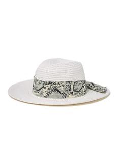 Vince Camuto Fabric Braided Band Panama Hat