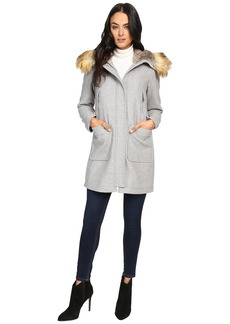 Vince Camuto Faux Fur Trim Wool L8371