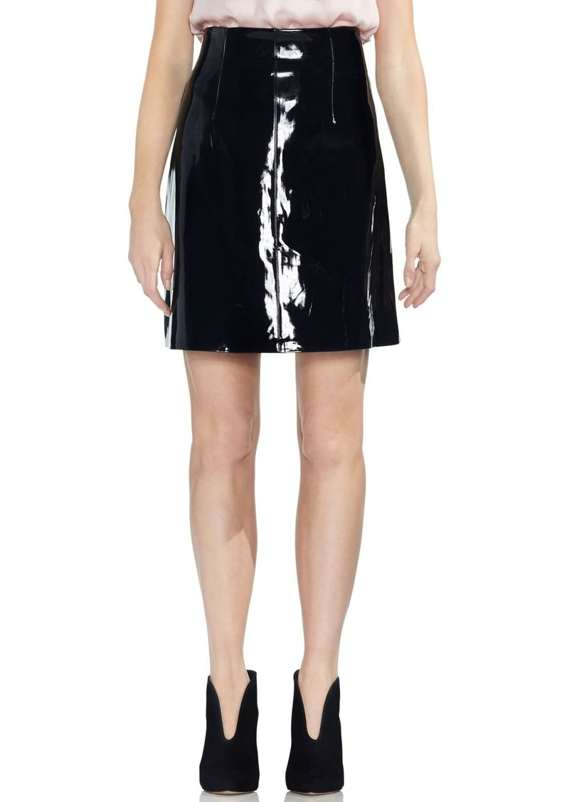 Vince Camuto Faux Patent Leather Skirt (Regular & Plus Size)
