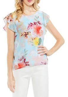 Vince Camuto Floral Drape-Sleeve Blouse