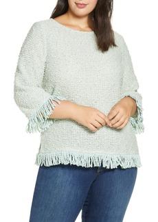 Vince Camuto Fringe Hem Sweater