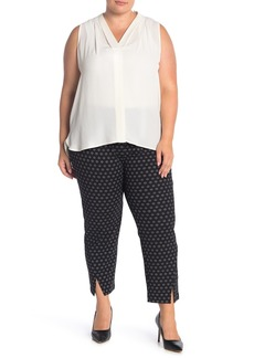 Vince Camuto Front Vent Pull-On Crepe Pants (Plus Size)