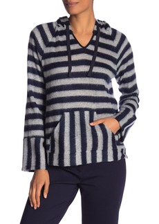 Vince Camuto Fuzzy Stripe Hoodie