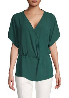 Vince Camuto Gathered Waist Wrap Top