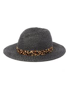 Vince Camuto Genuine Pony Hair Banded Panama Hat