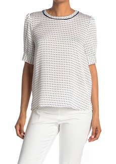 Vince Camuto Geo Print Crepe Blouse
