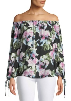 Glacier Floral Off-The-Shoulder Blouse