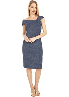 Vince Camuto Glitter Knit Ruched Dress