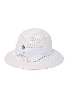 Vince Camuto Grosgrain Bow Woven Cloche Hat
