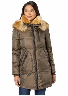 Vince Camuto Heavy Weight Down with Sherpa and Faux Fur Detail R1241