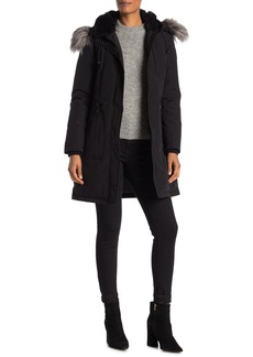 Vince Camuto Heavyweight Faux Fur Down Jacket
