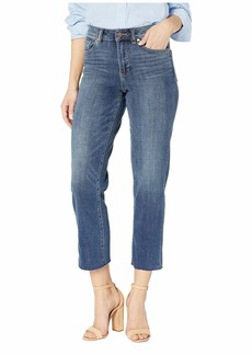 Vince Camuto High-Rise Indigo Denim Crop Straight Leg Jeans in Mid Vintage