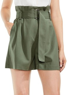 Vince Camuto High-Waist Belted Paperbag Shorts