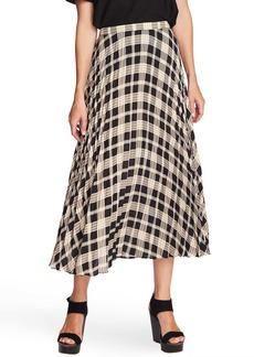 Vince Camuto Highland Plaid Pleated Skirt