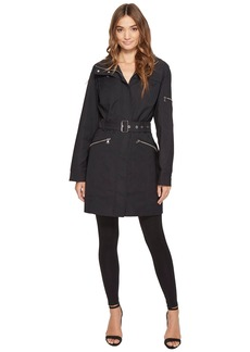Vince Camuto Hooded and Belted Trench