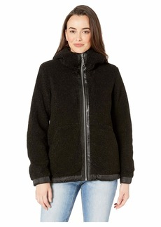 Vince Camuto Hooded Faux Shearling Jacket R8971