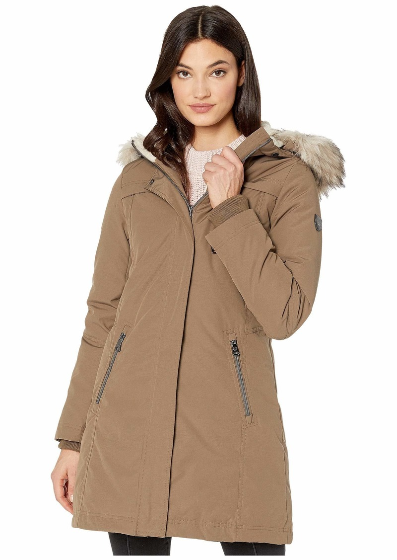 Vince Camuto Hooded Heavyweight Down with Faux Fur Trim V29703X