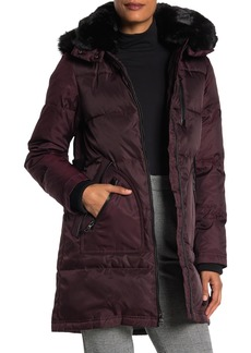 Vince Camuto Hooded Heavyweight Faux Fur Down Jacket