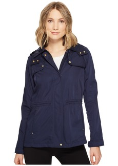 Vince Camuto Hooded Lightweight Parka with Drawstring Waist