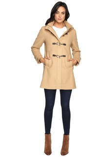 Vince Camuto Hooded Toggle Closure Wool Coat L8311