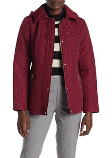 Vince Camuto Hooded Water Resistant Quilted Jacket