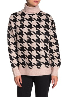 Vince Camuto Houndstooth Turtleneck Sweater