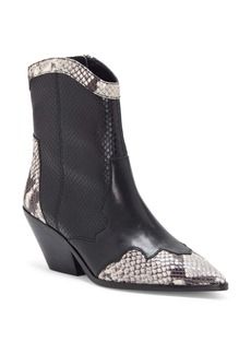 Vince Camuto Jaidin Leather Snake Embossed Western Boot