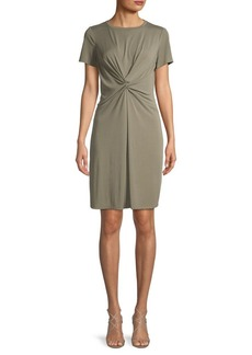 Vince Camuto Knotted Short-Sleeve Sheath Dress