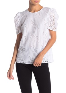 Vince Camuto Lace Short Sleeve Blouse