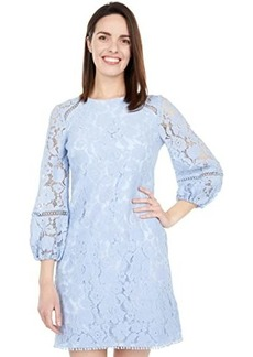 Vince Camuto Lace T Body with Balloon Sleeve and Trim Details