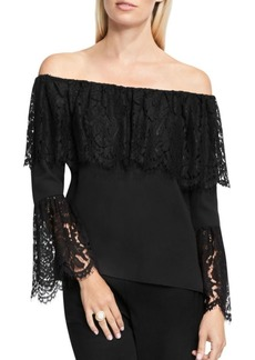 Vince Camuto Lace-Trim Off-The-Shoulder Top