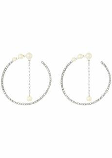 Vince Camuto Large Pearl Wraparound Hoop Earrings