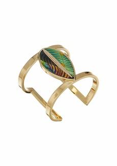 Vince Camuto Leaf Leather Cuff Bracelet