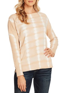Vince Camuto Long Sleeve Boat Neck Tie Dye Pullover