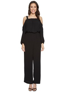 Vince Camuto Long Sleeve Cold-Shoulder Jumpsuit
