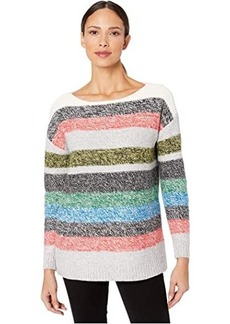 Vince Camuto Long Sleeve Color Block Boat Neck Sweater