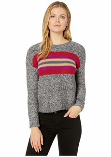 Vince Camuto Long Sleeve Color Block Crew Neck Pullover