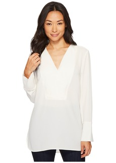 Vince Camuto Long Sleeve Doubled V-Placket Tunic