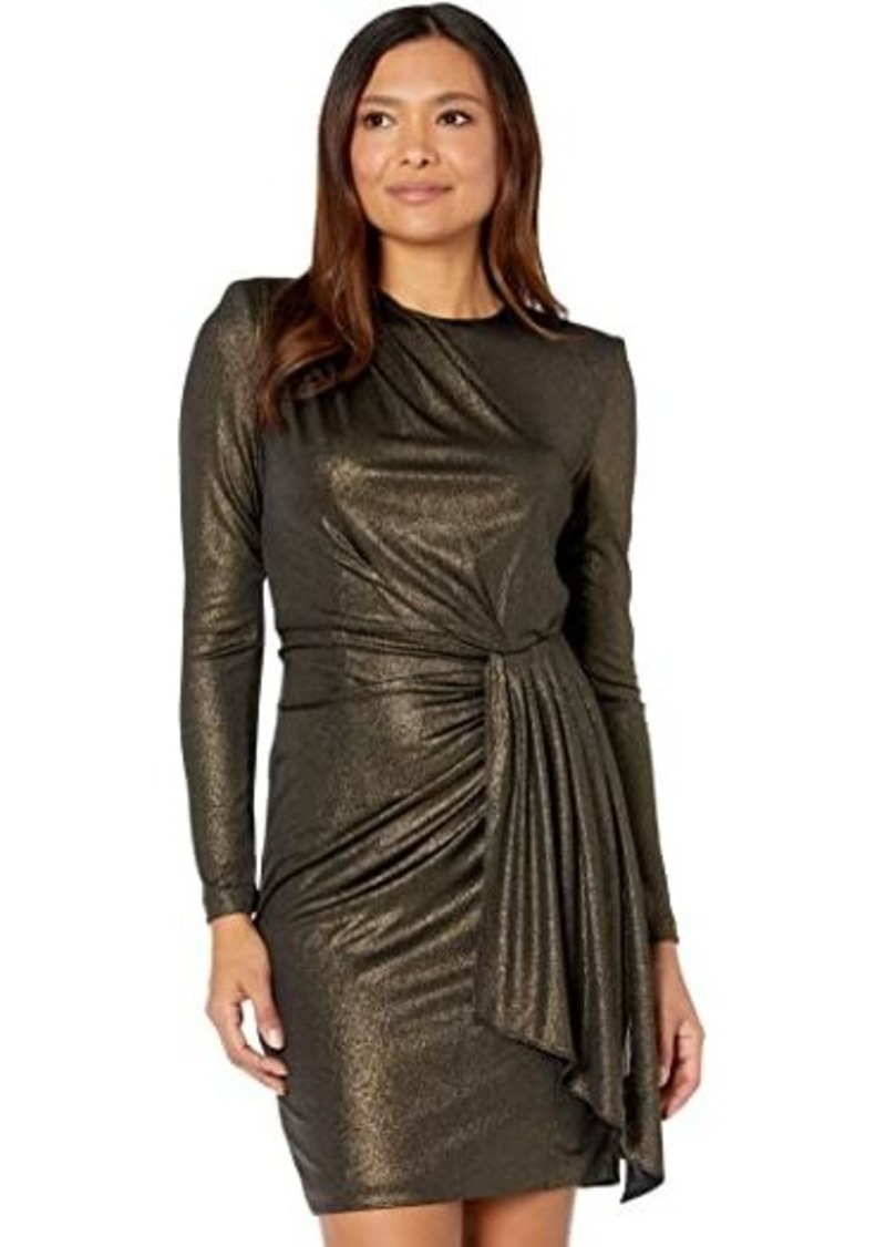 Vince Camuto Long Sleeve Dress with Ruching at Waist