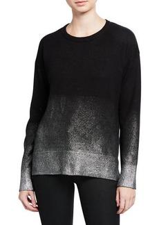 Vince Camuto Long-Sleeve Drop-Shoulder Foiled Sweater