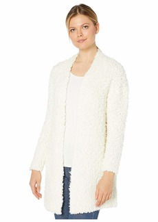 Vince Camuto Long Sleeve Poodle Yarn Open Front Cardigan