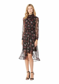 Vince Camuto Long Sleeve Regal Stamp Floral Maxi Dress