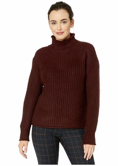Vince Camuto Long Sleeve Texture Stitch Mock Neck Sweater