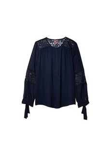 Vince Camuto Long Sleeve Tie Cuff Rumple Blouse